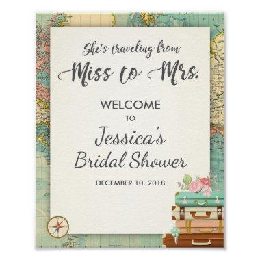 Travel  Welcome Sign Miss to Mrs