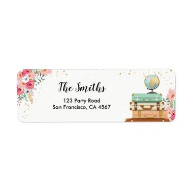 Travel Return Address Label Miss to Mrs Adventure