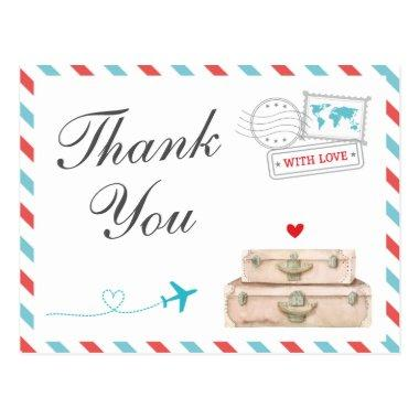 Travel Thank You , Airplane Airline Wedding Post