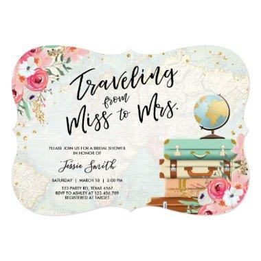 Travel themed  Miss to Mrs