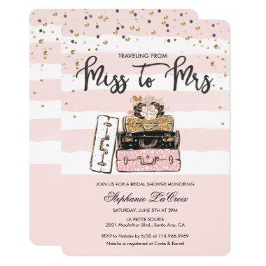 Traveling from Miss to Mrs Bridal Invitations