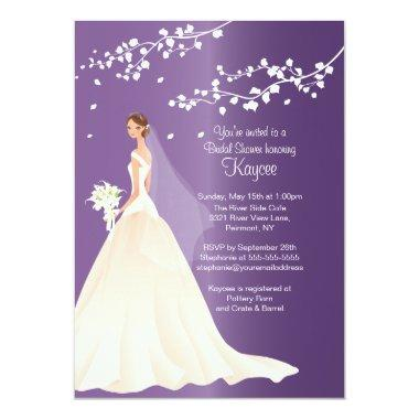 Trendy Amethyst Bride  Invite