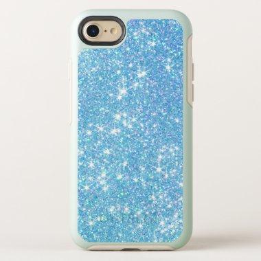 Trendy Baby Blue Glitter OtterBox iPhone 8/7 Case