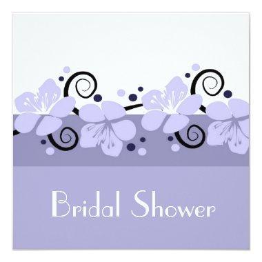 Trendy  Invite - Lavender Flowers