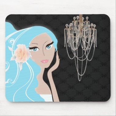 trendy chic girly fashionista  mouse pad