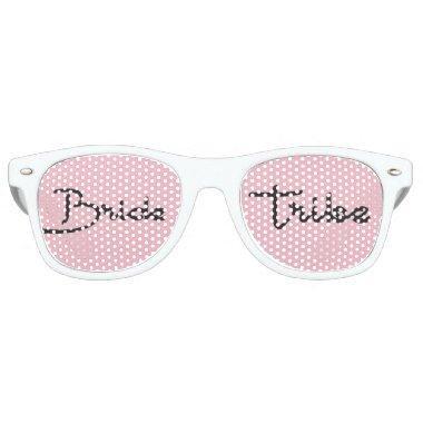 Trendy handwritten Script Bride Tribe Wedding Retro Sunglasses