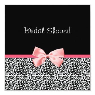 Trendy Leopard Print and Pink Ribbon