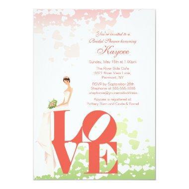 Trendy Love Bride  Invite