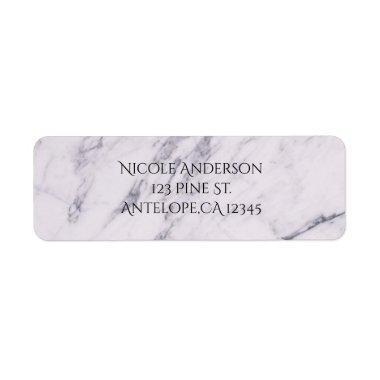 Trendy Modern Marble Elegant Wedding  Label