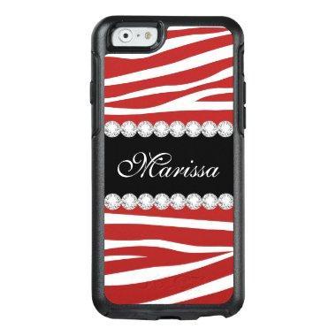 Trendy Red White Zebra OtterBox iPhone 6/6s Case