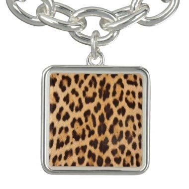 trendy safari fashion leopard spots cheetah print bracelet
