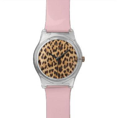 trendy safari fashion leopard spots cheetah print watch