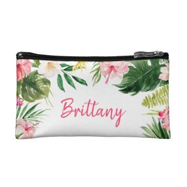 Tropical Bridesmaid Gift Cosmetic Bag | Makeup Bag