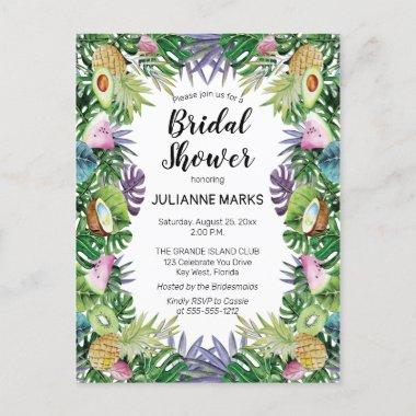 Tropical Fruit | Greenery Summer Bridal Shower Invitation PostInvitations