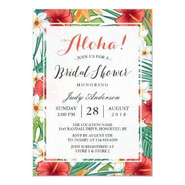 Tropical Hawaiian Hibiscus Aloha