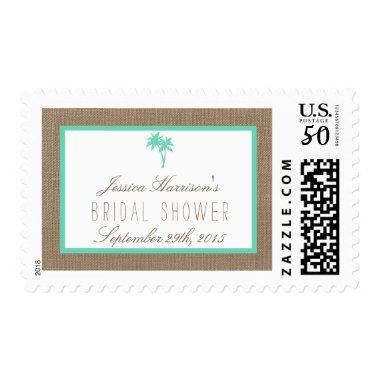 Tropical Palm Tree Beach  Postage