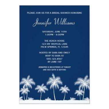 Tropical Palm Trees Navy