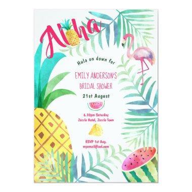 Tropical Pineapple  Invites Flamingo