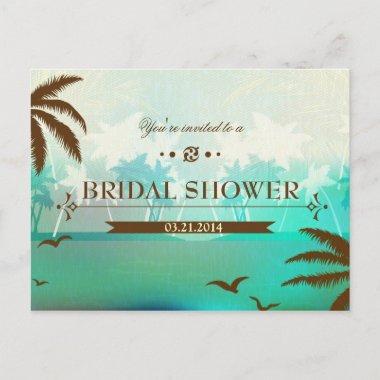 Tropical Turquoise Beach  Invite