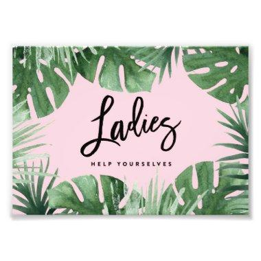Tropics Ladies Room Print