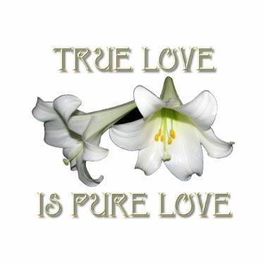 True Love is Pure Love (White Easter Lilies) Statuette