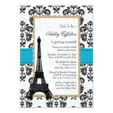 Turquoise Eiffel Tower Parisian