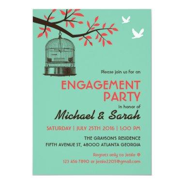 Turquoise Rustic Engagement Party  Bird