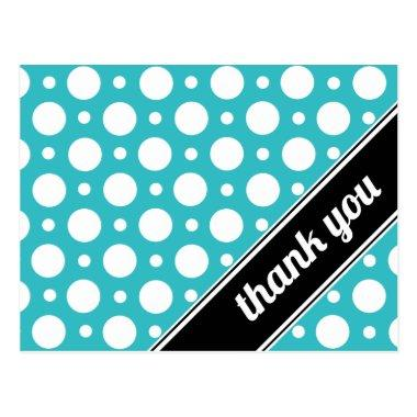 Turquoise & White Polka Dot Thank You Post