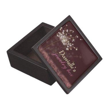 Twilight Dandelion Customized Bridal Gift Keepsake Box