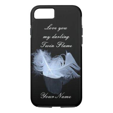 Twin flame feathers and reflection iPhone 7 case