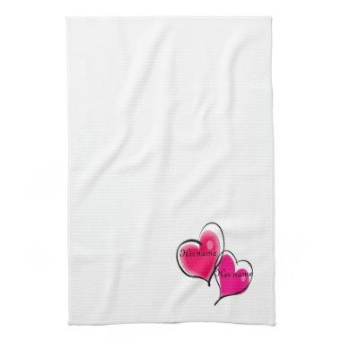 Two Hearts Kitchen Towel Template