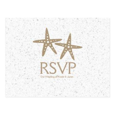Two Starfish Beach Wedding RSVP cards