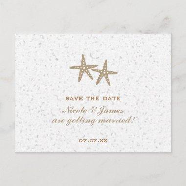 Two Starfish Beach Wedding Save The Date Invitations