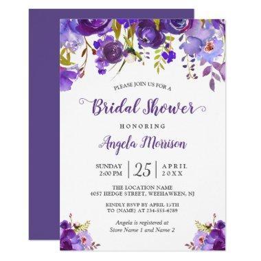 Ultra Violet Purple Floral Romantic
