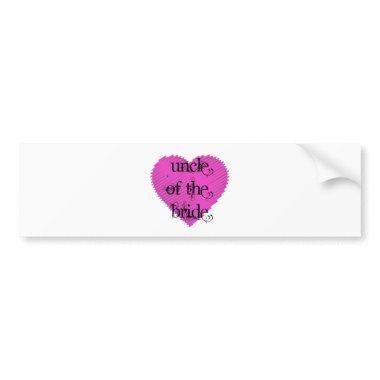 Uncle of the Bride Bumper Sticker