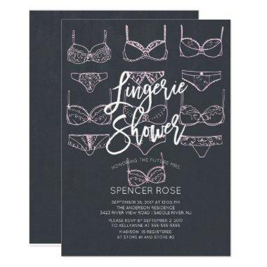 Unique Chalkboard Lingerie Shower