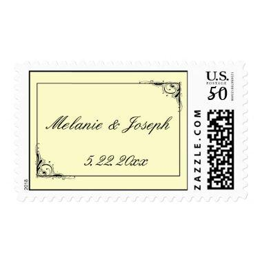 USPS Cream wedding postage stamp