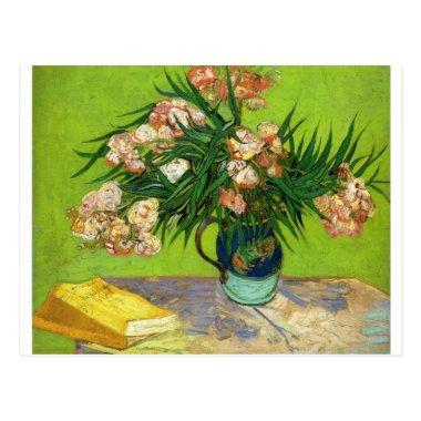 Van Gogh Vintage Painting Blossoms Flowers Vines Post