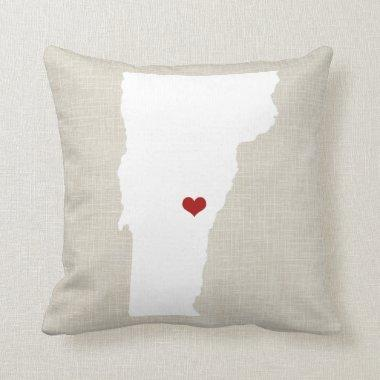 "Vermont State New Home Throw Pillow 16"" x 16"""