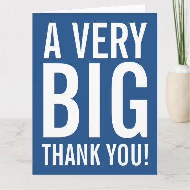 Very big oversized Thank You greeting Invitations