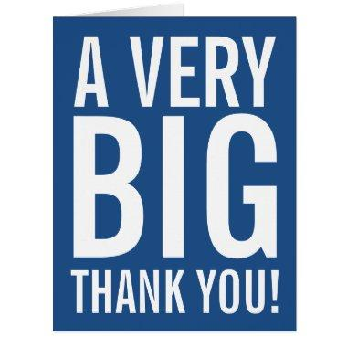 Very big oversized Thank You greeting