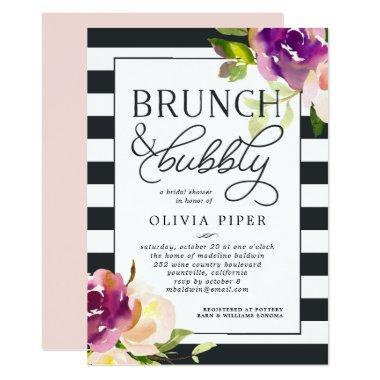 Vibrant Bloom Brunch & Bubbly Bridal Shower Invite