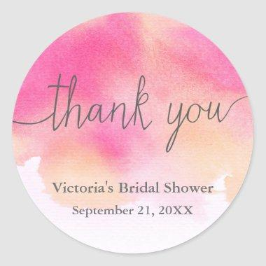Vibrant Dreams Bridal Shower Thank You Sticker