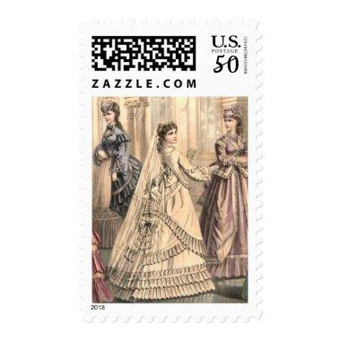 Victorian Bride and Attendants Postage