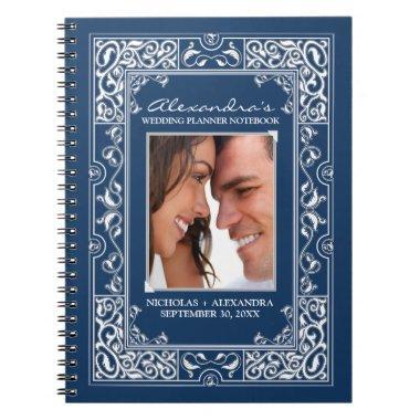 Vignette Bride's Wedding Planner Notebook (navy)