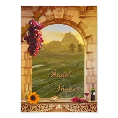 Vineyard Wine Themed Fall Bridal Shower Invitations
