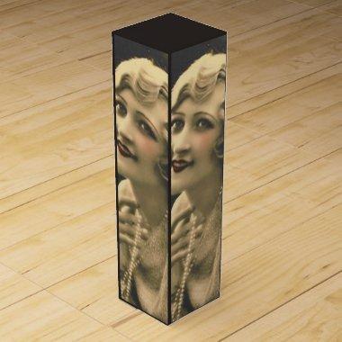 vintage bachelorette Party Gatsby  Wine Box