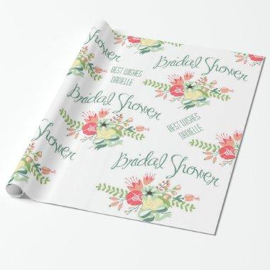 Vintage  Flowers Wrapping Paper