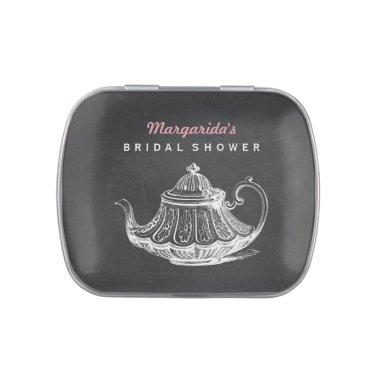 Vintage Bridal Shower Tea Party Favors Chalkboard Jelly Belly Candy Tin