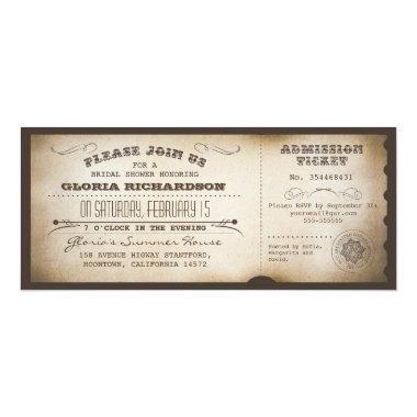 vintage  ticket typography design
